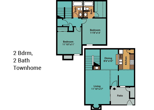2-Bdrm,-2-Bath-TownhomeNEW