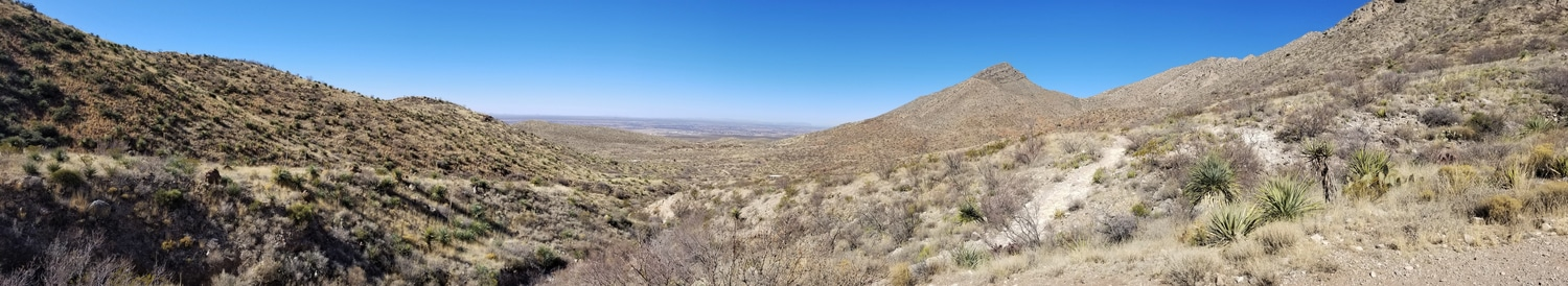 Mountain range at aFranklin Mountains State Park El Paso TX