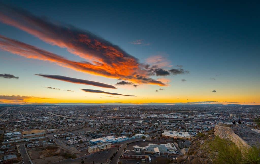 El paso texas view of the city